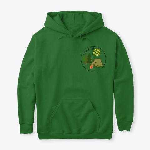 Camping Fun! Irish Green T-Shirt Front