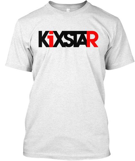 Ki Xstar Heather White T-Shirt Front