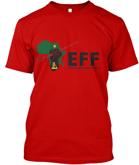 Eff Economic Freedom Fighters Classic Red T-Shirt Front