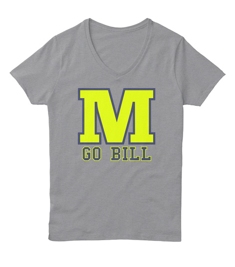 M Go Bill Light Steel T-Shirt Front