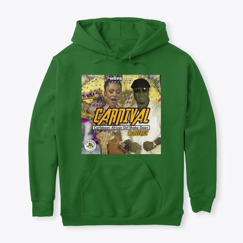 Carnival By Mezonic Hoodie Kelly Green T-Shirt Front