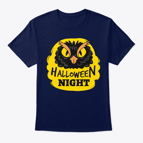 Halloween Night! T Shirts!  Navy T-Shirt Front