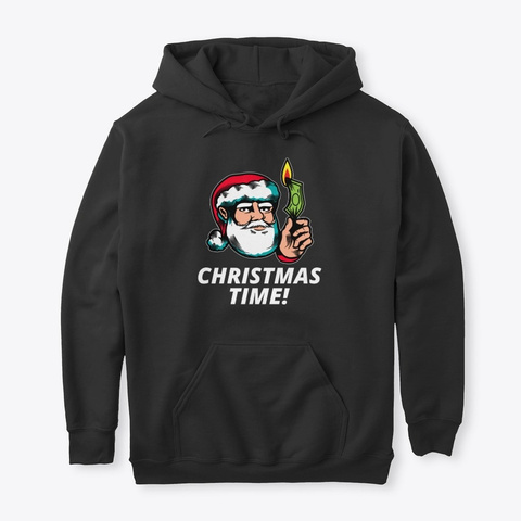 Christmas Time Black T-Shirt Front