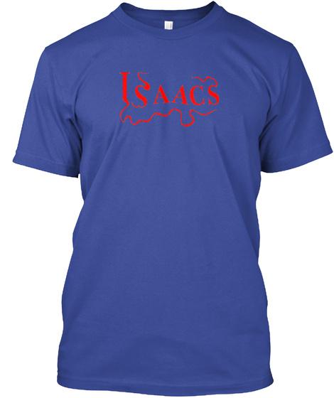 Isaacs Deep Royal T-Shirt Front