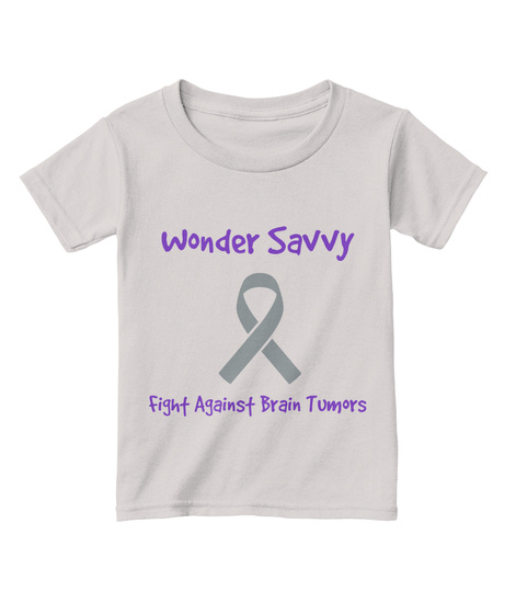 Wonder Savvy Fight Against Brain Tumors Sport Grey  T-Shirt Front