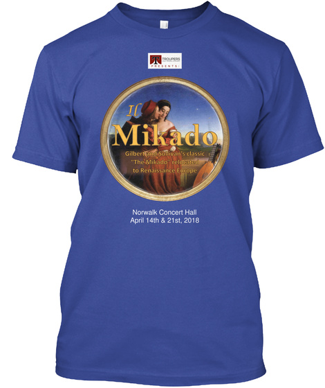 Mikado Norwalk Concert Hall Deep Royal T-Shirt Front
