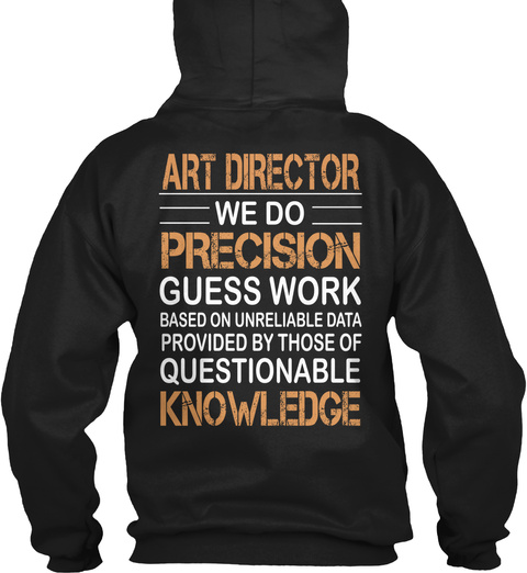 Art Director Black T-Shirt Back