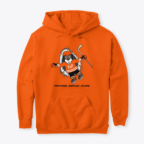 Pn P   Parker   Hockey Celebration Safety Orange T-Shirt Front