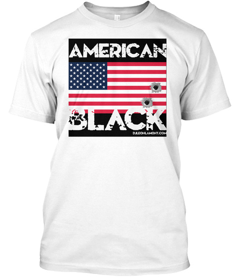 American Black White T-Shirt Front