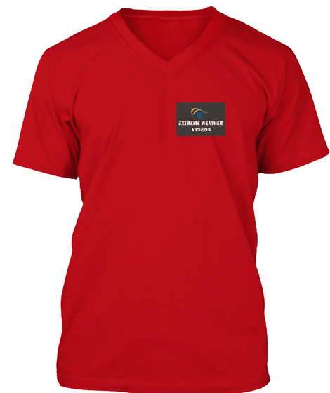 Extreme Weather Videos Red T-Shirt Front