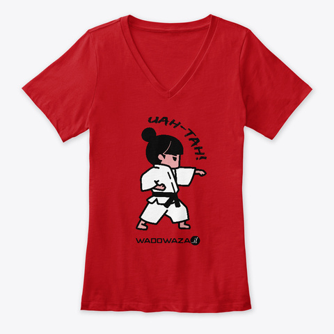 Uah Tah! By Wadowaza   For Ladies Red T-Shirt Front