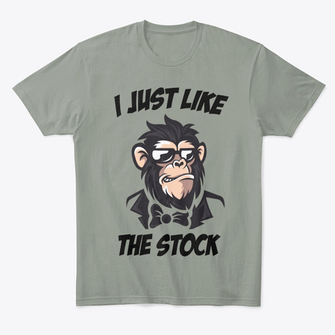 I Just Like The Stock Grey T-Shirt Front