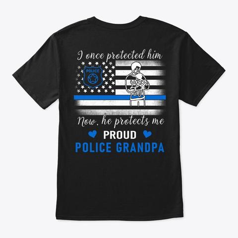 Police Grandpa T Shirt   Family Shirt Black T-Shirt Back