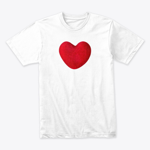 I Heart You Love Liberate White T-Shirt Front