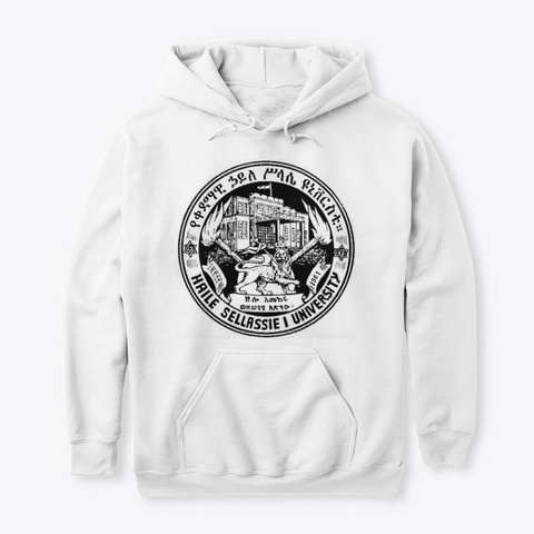 Qedamawi Haile Selassie College  Hoodie White T-Shirt Front