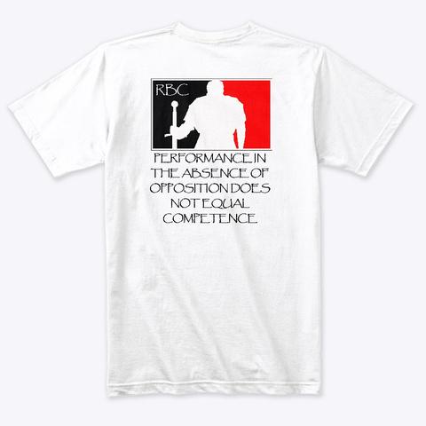 Performance Heather White T-Shirt Back