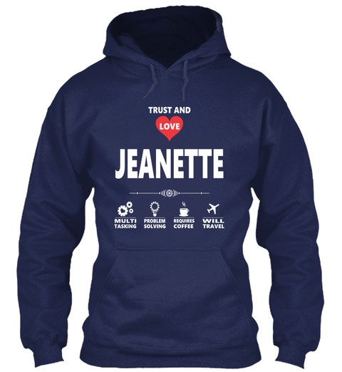 Jeanette Navy T-Shirt Front