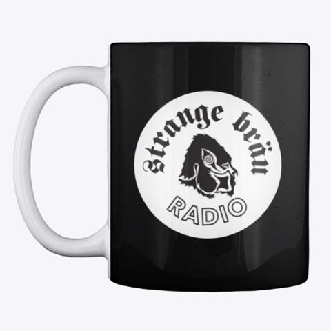 Strange Bräu Radio Mug Black T-Shirt Front