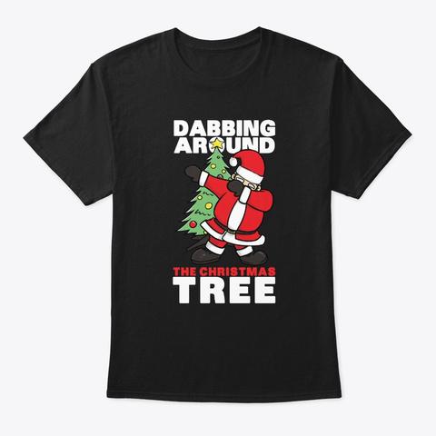 Funny Santa Claus Dabbing Design  Black T-Shirt Front
