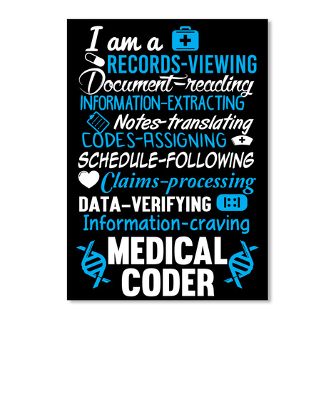 I Am A Records Viewing Document Reading Information Extracting Notes Translating Codes Assigning Schedule Following... Black T-Shirt Front