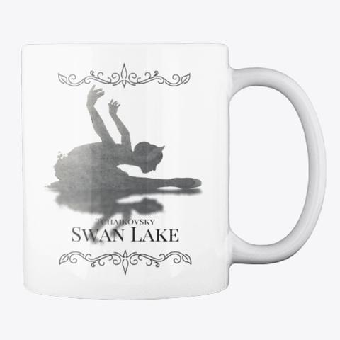 Swan Lake On White White T-Shirt Back