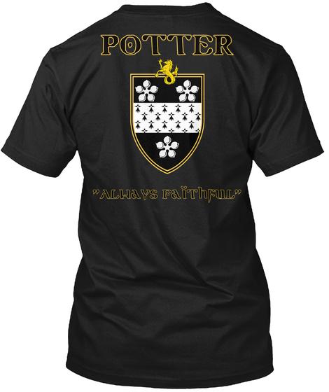 Potter Always Faithfull Black T-Shirt Back