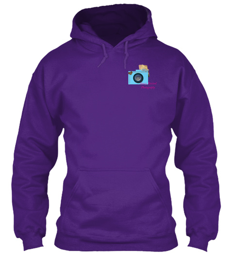 Stacey Percival Photography Hoodie Purple T-Shirt Front