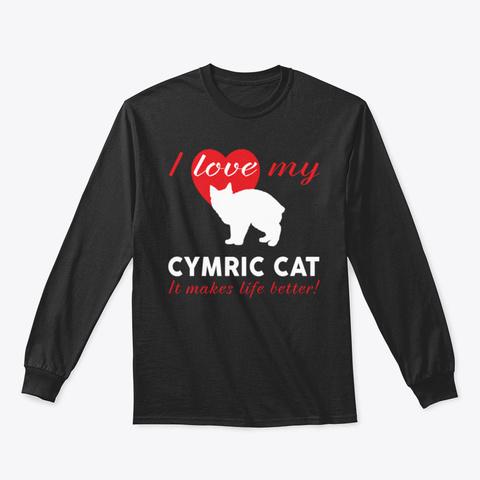 Cymric Cat W2rqm Black T-Shirt Front