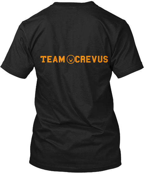 Team Crevus Black T-Shirt Back