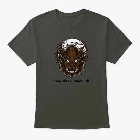 Full Moon Werewolf Smoke Gray T-Shirt Front