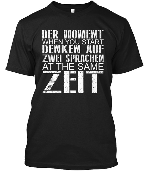 Zeit, Last Chance To Buy! Black T-Shirt Front