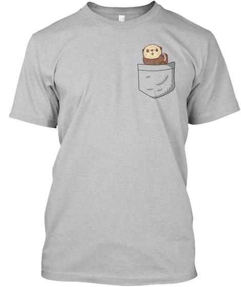 Otter Pocket Sport Grey T-Shirt Front