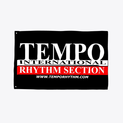 Tempo Rhythm Section Flag Black T-Shirt Front