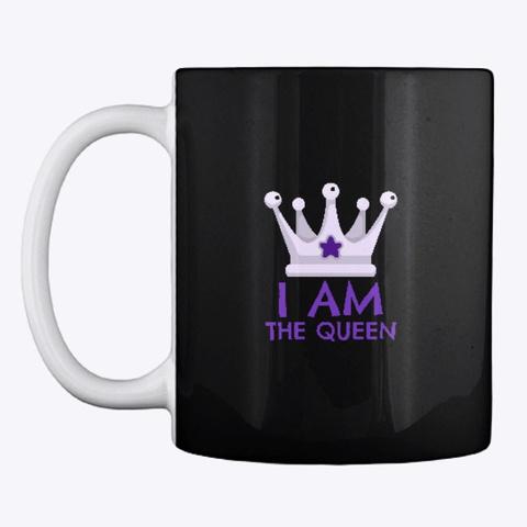 Humorous The Queen  Merchandise Black T-Shirt Front