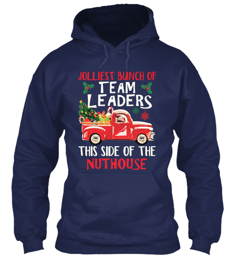 Awesome Team Leader Navy T-Shirt Front