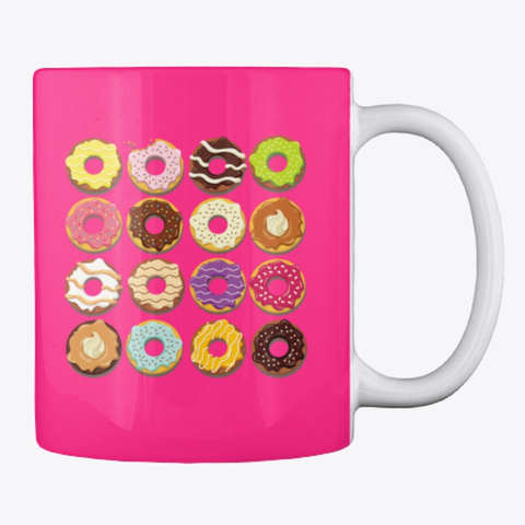 Taza Mug Desayuno  Fresh Color Hot Pink Kaos Back