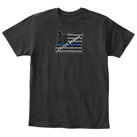 First Repsonder Portland Police Oregon Black T-Shirt Front