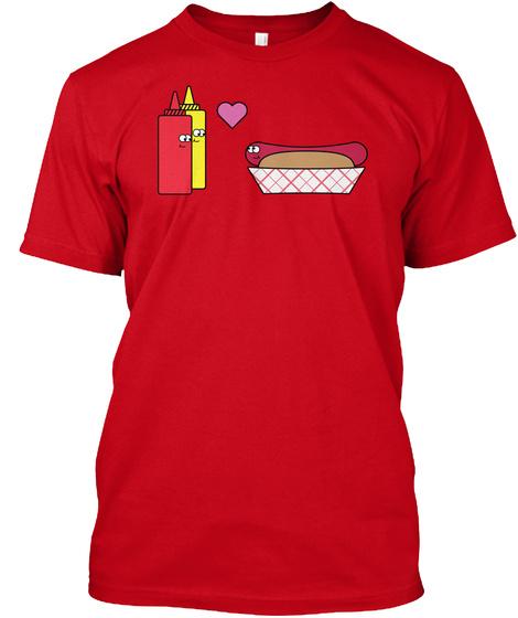 Hotdog Guys Red T-Shirt Front