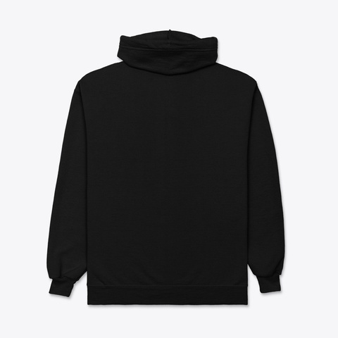 Zipper Hoodie With Emblem On Side Black T-Shirt Back