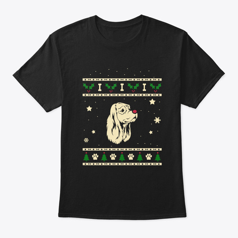 Christmas American Eskimo Dog Gift Black T-Shirt Front
