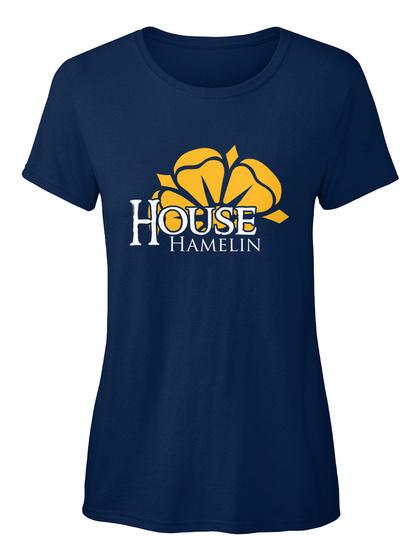 Hamelin Family House   Flower Navy T-Shirt Front