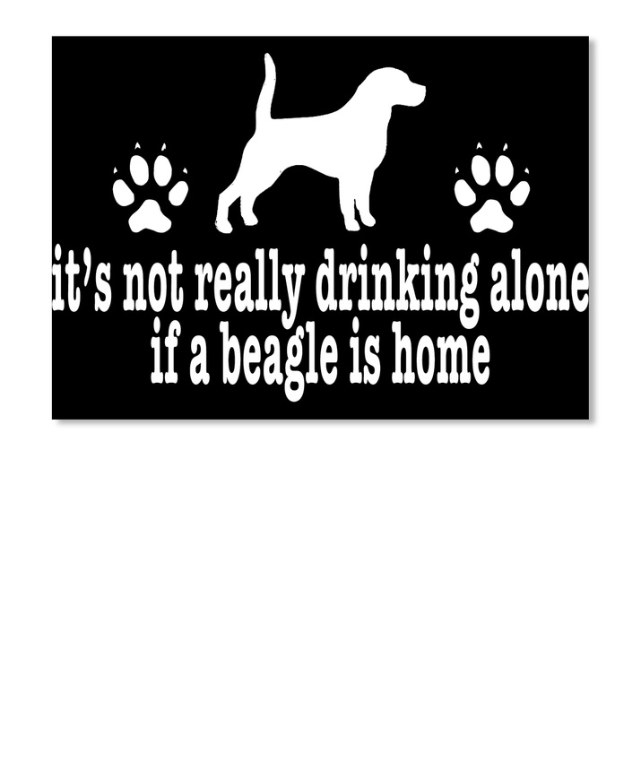 Phenomenal Details About Quality Funny Beagle Drinking Alone Dog Lover Sticker Sticker Landscape Beutiful Home Inspiration Aditmahrainfo
