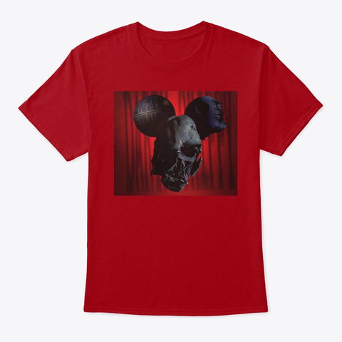 House Of Mouse Deep Red T-Shirt Front