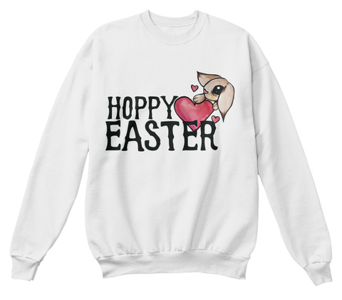 Hoppy Easter White  T-Shirt Front