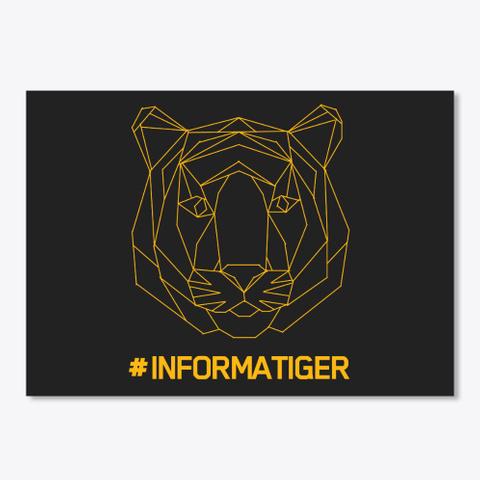 Informatiger Black T-Shirt Front