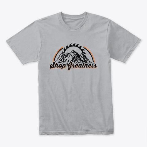Conquer Shop Greatness Tee Heather Grey T-Shirt Front