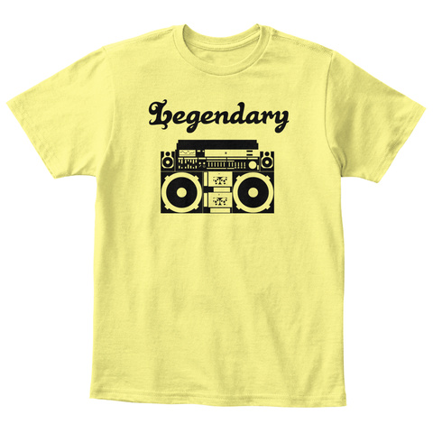 Legendary Lemon Yellow  T-Shirt Front
