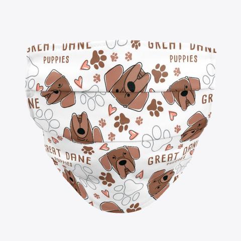 Great Dane Cute Face Mask Standard T-Shirt Front