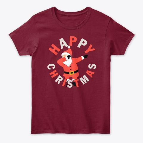 Dabbing Santa Happy Christmas Cardinal Red T-Shirt Front