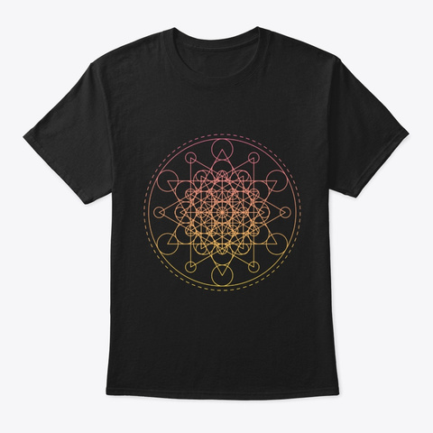 Sacred Geometry Super Star Black T-Shirt Front